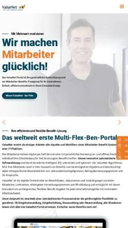 Vorschau der mobilen Webseite www.valuenet.de, Valuenet: Portal Recht und Steuern