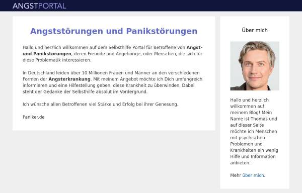 Vorschau von www.angstportal.de, Angst-Portal