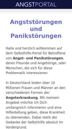 Vorschau der mobilen Webseite www.angstportal.de, Angst-Portal