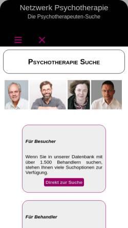 Vorschau der mobilen Webseite www.netzwerk-psychotherapie.de, Kollegiales Netzwerk Psychotherapie