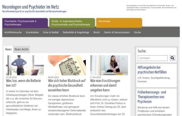 Vorschau von www.neurologen-und-psychiater-im-netz.org, Neurologen und Psychiater im Netz