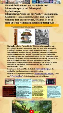 Vorschau der mobilen Webseite www.terrapie.de, Terrapie