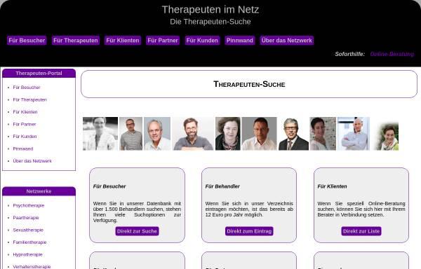 Vorschau von www.therapeuten-im-netz.de, Therapeuten im Netz