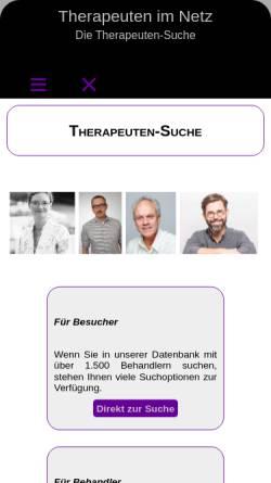 Vorschau der mobilen Webseite www.therapeuten-im-netz.de, Therapeuten im Netz