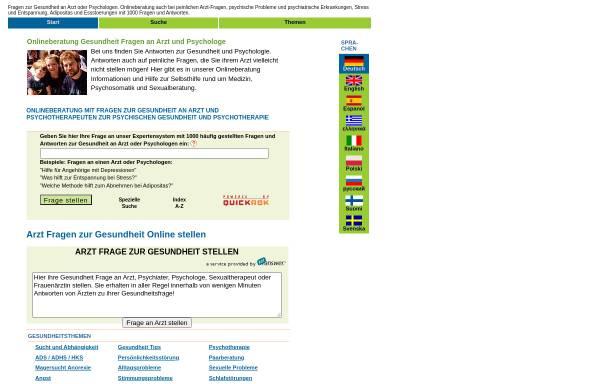Vorschau von www.web4health.info, Web4health