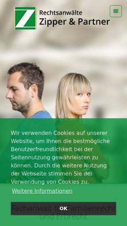 Vorschau der mobilen Webseite www.familienrecht-portal.net, Familienrecht-Portal.net