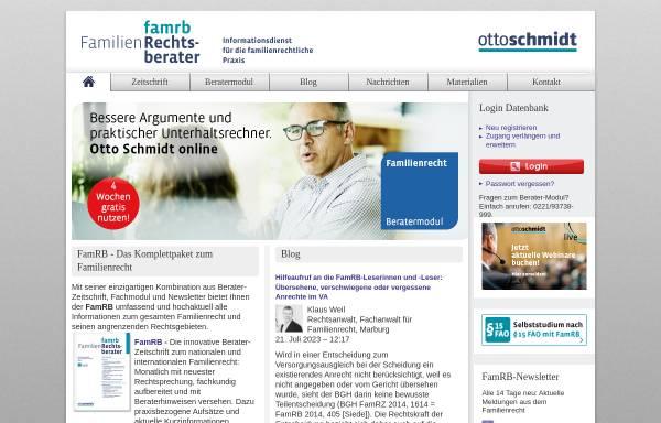 Vorschau von www.famrb.de, Unterhalt - Leitlinien aller Gerichtsbezirke für die Berechnung