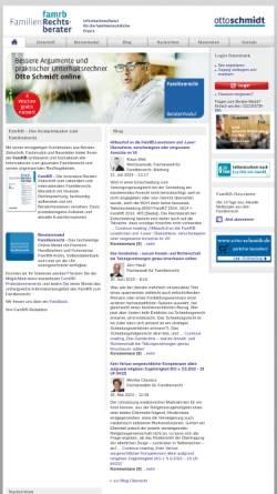 Vorschau der mobilen Webseite www.famrb.de, Unterhalt - Leitlinien aller Gerichtsbezirke für die Berechnung
