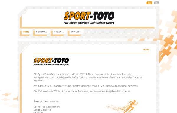 Vorschau von www.sport-toto.ch, Sport-TOTO