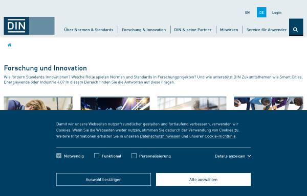 Vorschau von www.ebn.din.de, Entwicklungsbegleitende Normung (EBN)