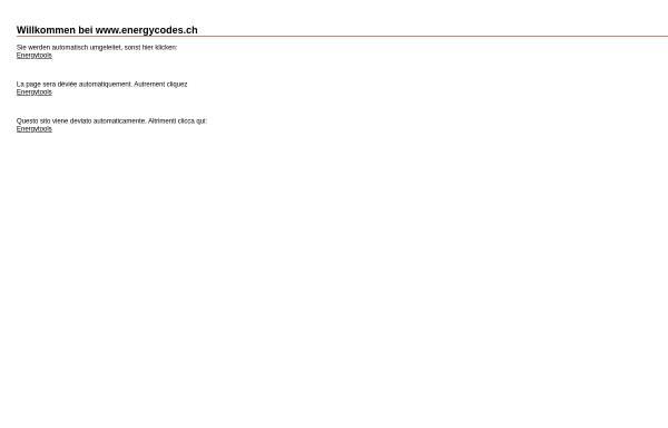 Vorschau von www.energycodes.ch, SAI Energycodes