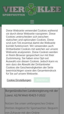 Vorschau der mobilen Webseite www.vierklee.com, Vierklee Wettbüro