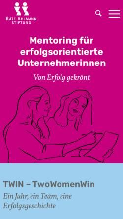 Vorschau der mobilen Webseite www.kaete-ahlmann-stiftung.de, Käte Ahlmann Stiftung