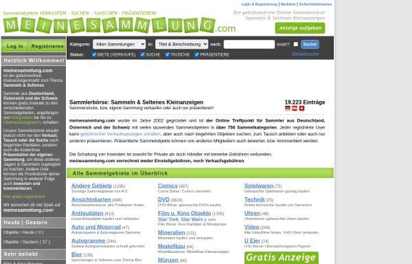 Vorschau von www.meinesammlung.com, www.meinesammlung.com