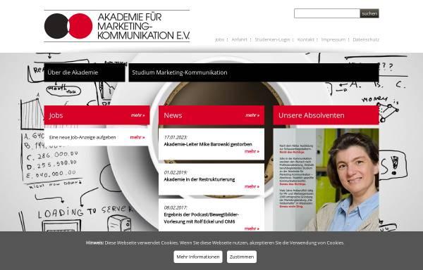 Vorschau von www.akademie-frankfurt.de, Akademie für Marketing-Kommunikation e.V.