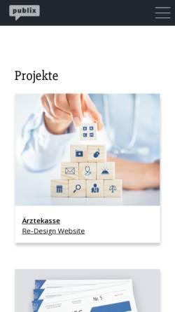 Vorschau der mobilen Webseite www.publix.ch, Publix AG