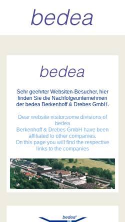 Vorschau der mobilen Webseite www.bedea.com, Bedea Berkenhoff & Drebes GmbH