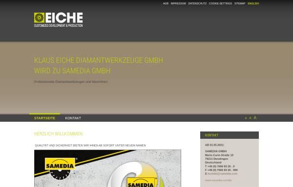 Vorschau von www.eiche-diamantwerkzeuge.com, Klaus Eiche Diamantwerkzeuge GmbH