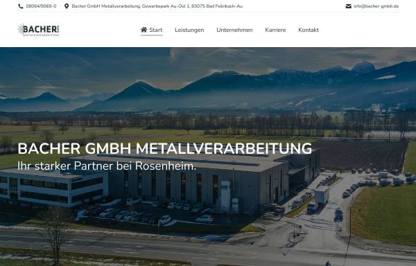Vorschau von www.bacher-gmbh.de, Sebastian Bacher GmbH