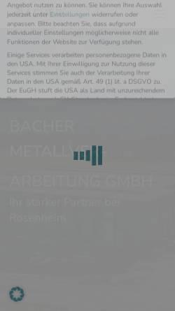 Vorschau der mobilen Webseite www.bacher-gmbh.de, Sebastian Bacher GmbH