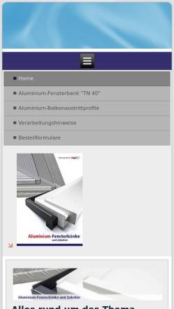 Vorschau der mobilen Webseite wd-fensterbänke.de, Werkzeuge Dietrich GmbH & Co. KG