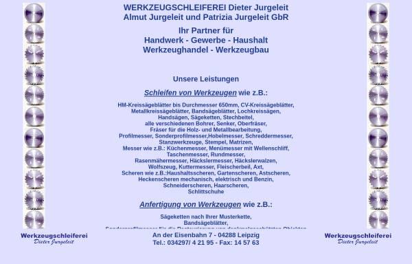 Vorschau von www.werkzeugschleiferei-leipzig.de, Werkzeugschleiferei Jurgeleit, Inh. Dieter Jurgeleit