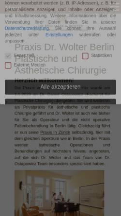 Vorschau der mobilen Webseite www.berliner-schoenheitschirurgie.de, Berliner Forum für Ästhetische Chirurgie e.V.