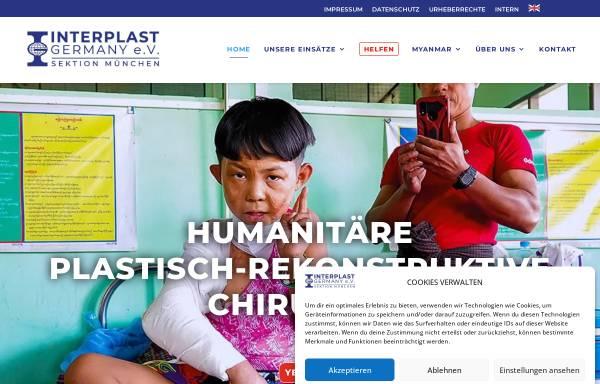 Vorschau von www.interplast-muenchen.de, Plastische Chirurgie in Entwicklungsländern