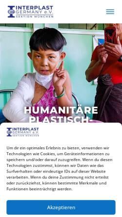 Vorschau der mobilen Webseite www.interplast-muenchen.de, Plastische Chirurgie in Entwicklungsländern