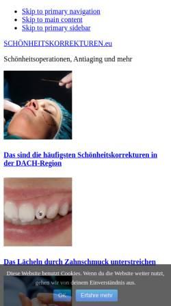 Vorschau der mobilen Webseite schoenheitskorrekturen.eu, Schönheitskorrekturen
