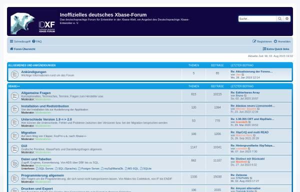 Vorschau von www.xbaseforum.de, Inoffizielles deutsches Xbase-Forum
