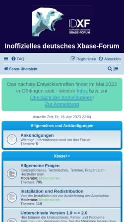 Vorschau der mobilen Webseite www.xbaseforum.de, Inoffizielles deutsches Xbase-Forum