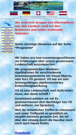 Vorschau der mobilen Webseite www.voug-bodensee.net, VO-Usergroup Bodensee