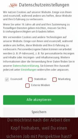 Vorschau der mobilen Webseite nobis-printen.de, Nobis Printen