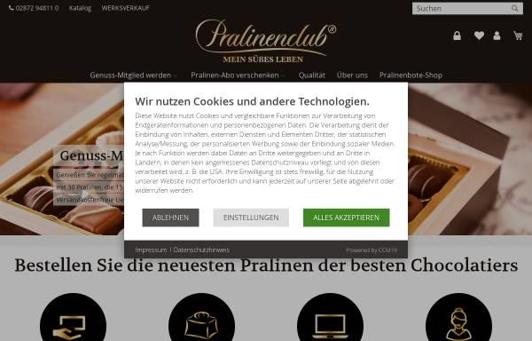 Vorschau von www.pralinenclub.de, Pralinenclub Deutschland