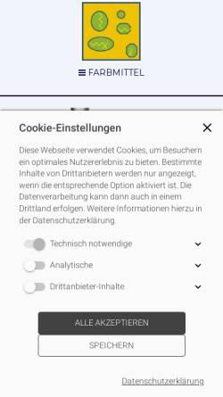 Vorschau der mobilen Webseite www.colux.de, Colux GmbH