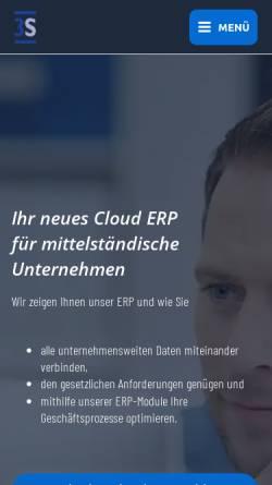 Vorschau der mobilen Webseite www.3s-erp.de, 3S PPS / ERP Software