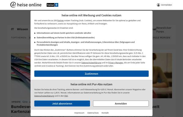 Vorschau von www.heise.de, Heise online
