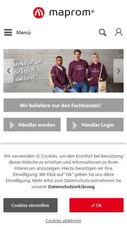 Vorschau der mobilen Webseite www.maprom.de, MAPROM GmbH