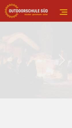 Vorschau der mobilen Webseite www.erste-hilfe-outdoor.de, Erste Hilfe Outdoor