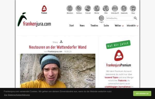 Vorschau von www.frankenjura.com, Frankenjura.com