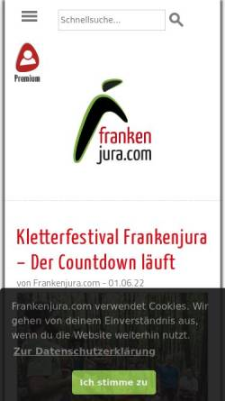 Vorschau der mobilen Webseite www.frankenjura.com, Frankenjura.com