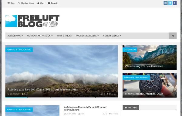 Vorschau von www.freiluft-blog.de, Das Freiluft Blog