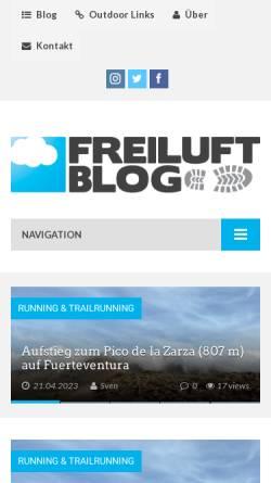 Vorschau der mobilen Webseite www.freiluft-blog.de, Das Freiluft Blog