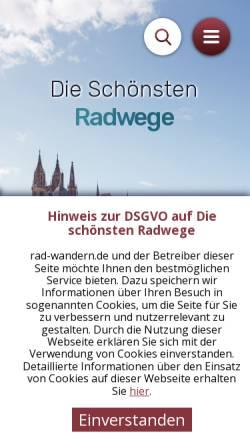 Vorschau der mobilen Webseite www.rad-wandern.de, Jahrbuch Wandern und Radwandern