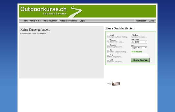 Vorschau von www.outdoorkurse.ch, Outdoorkurse und Events