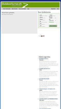 Vorschau der mobilen Webseite www.outdoorkurse.ch, Outdoorkurse und Events