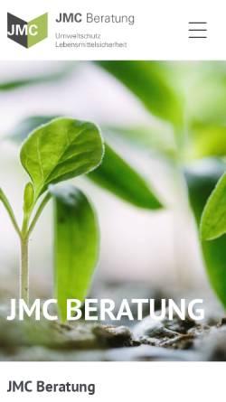 Vorschau der mobilen Webseite www.jmc-augsburg.de, JMC Beratung, Inh. Jürgen Mayer