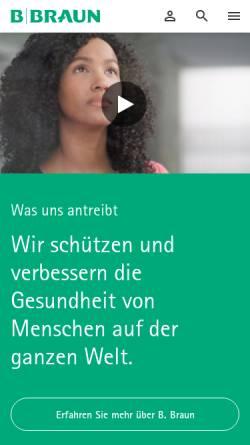 Vorschau der mobilen Webseite www.bbraun-preis.de, B. Braun Preis