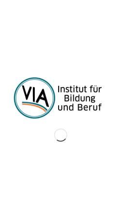 Vorschau der mobilen Webseite via-institut.de, VIA Institut für Bildung und Beruf
